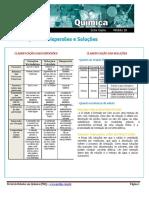 Classificação Das Dispersões e Soluções