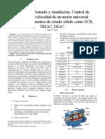 Control de arranque y velocidad de un motor universal mediante un Triac y pic