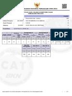 Hasil SKD CPNS Kab. Jember 2018