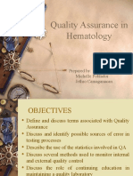 Quality Assurance in Hematology Group 11