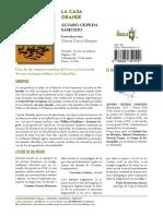 Ficha de Prensa La Casa Grande Alvaro Cepeda La Navaja Suiza Editores