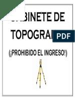 Gabinete De topografia