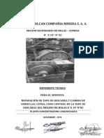TDR - Rep. Tapa Descarga y Cambio de Forros Molino 02