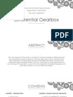 Differential Gearbox Development Presentation