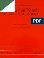 370587765 Schopenhauer de La Cuadruple Raiz Del Principio de Razon Suficiente Gredos