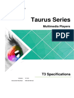 Taurus Series Multimedia Player T3 Specifications-V1.0.0(1)