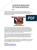 Cara Menetralisir Badan Dari Narkoba Tanpa Rehabilitasi