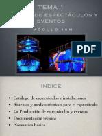1. Montaje de espectáculos y eventos