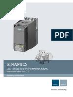 Siemens g120c Operator Manual