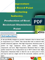 High Temperature Aluminium Based Paint Manufacturing Industry