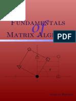 Fundamentals of Matrix Algebra 3rd Edition