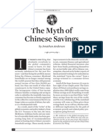 The Myth of China's Savings