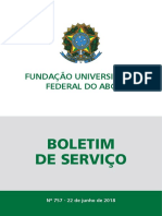 Fundação Universidade Federal Do ABC Boletim de Serviço