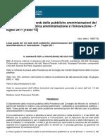 Linee guida dei siti web delle pubbliche amministrazioni del Ministro per la pubblica amministrazione e l'innovazione - 7 luglio 2011