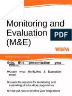 AFA - Monitoring and Evaluation