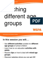 AFA - Teaching Different Age Groups