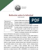 Carlos Acevedo - Reflexión sobre la felicidad