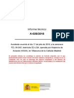 Informe técnico A-026/2016