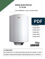 Manual Instrucciones Termos Electricos Tl Plus