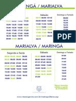 Horários dos ônibus de Marialva - Maringá 12/2018