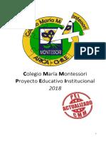 PEI Colegio María Montessori 2018