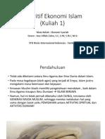 Kuliah 1_Pendahuluan (Diskritif Ekonomi Islam)