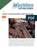 """""""Cattolici"""". Il Romanzo Profetico Sulla Chiesa Di Oggi"""