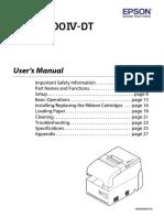 OmniLink TM-H6000IV-DT Intelligent Printer User's Manual