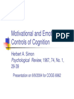motivational and emotional controls of cognition