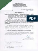 CDSCO-Import Licence Revision