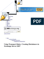 Disclaimer in Exchange Server 2007
