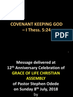 Covenant Keeping God