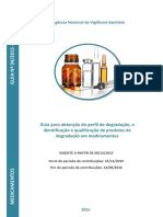 ICH Guia 4 - Perfil e Produtos de Degradação Em Medicamentos