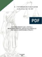 TRABALHO - Funções Essenciais à Justiça