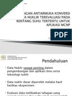 Slide - an Antarmuka Konversi File Data Nuklir Terevaluasi Pada