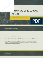 Dumping of Medical Waste