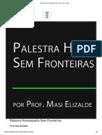 Palestra Homeopatia sem fronteiras - Masi Elisalde