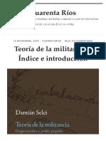 Teoría de la militancia – Índice e introducción – Cuarenta Ríos