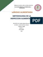 Informe de Metodologia de Inspeccion Sanitaria a Mercados de Abasto