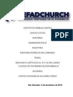 Resumen capitulos 12, 13 y 14 del libro Claves de la Interpretación Bíblica