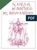 Ritual para el INICIO DE MINISTERIO DEL NUEVO PÁRROCO
