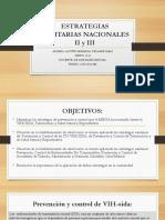 Saraiiestrategias Sanitarias Nacionales II y III