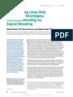 Portfolio Blening vs Signal Blending