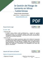 Gestión del Riesgo de Gaseamiento en Minas Subterráneas