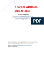 Fpsc Fia Solved Past Papers (1985-2015