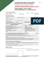 Fichas para saneamiento fisico legal - Villa Capiri
