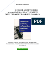 Microprocessor Architecture Programming and Applications With the 8085 by Ramesh s Gaonkar