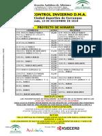 I Control Invierno D.M.a. Carranque 15-12-18