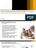 OpenSAP Leo5 Week 1 Unit 1 SLML Presentation