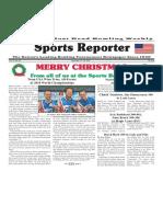 December 19 - 25, 2018  Sports Reporter